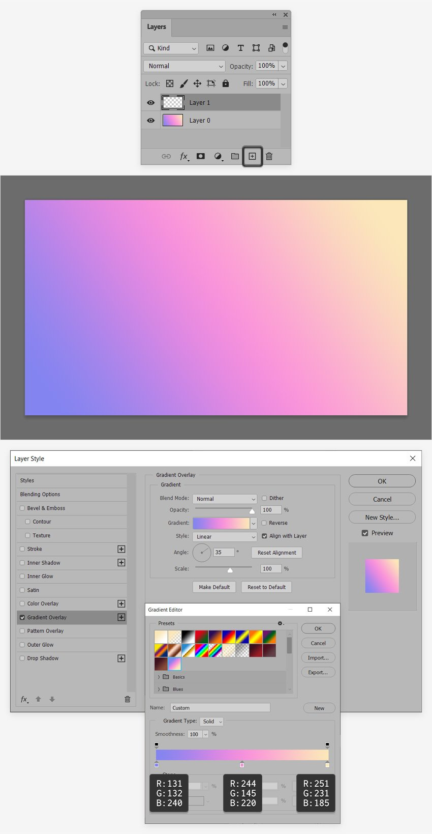 layer style gradient editor