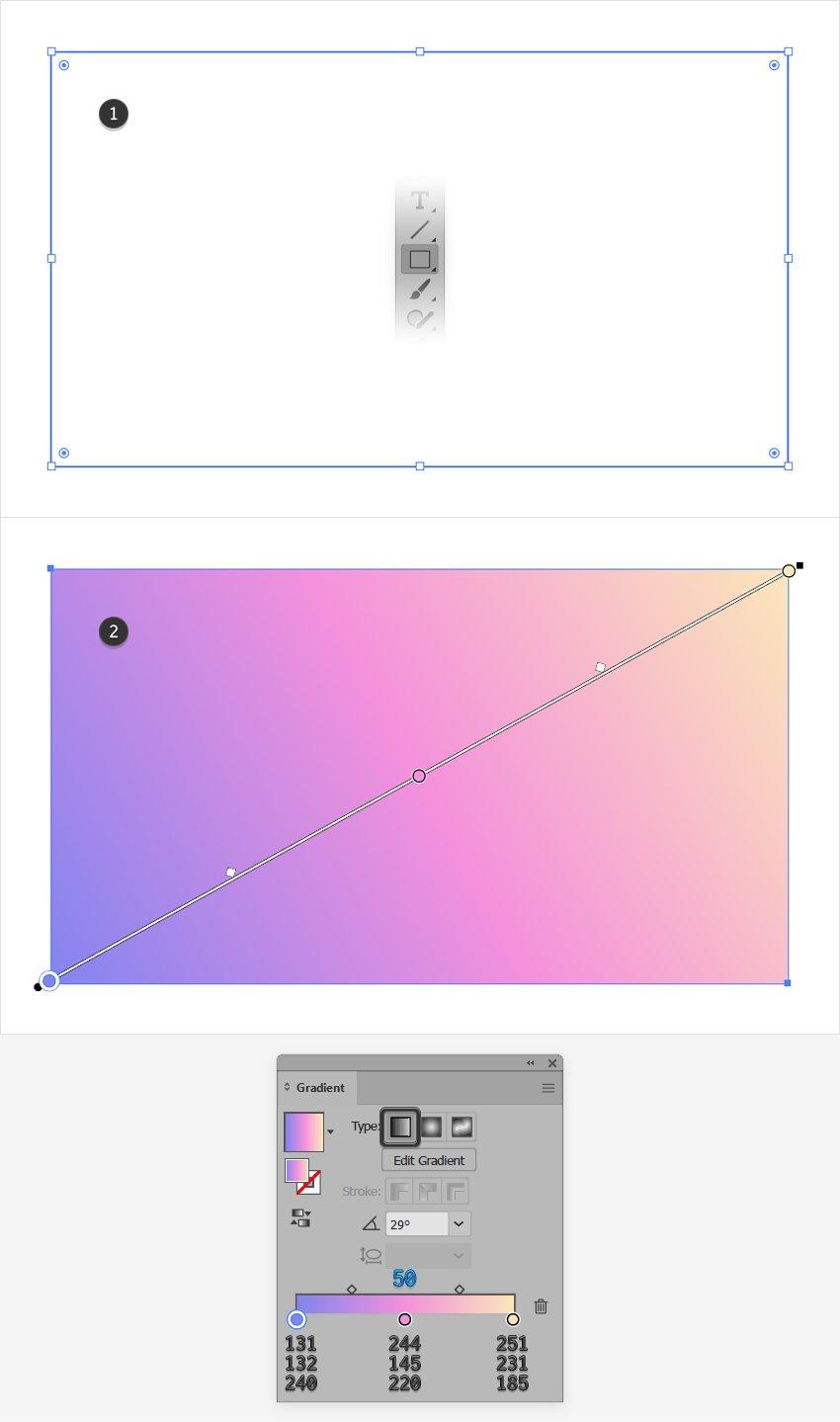 pastel gradient illustrator