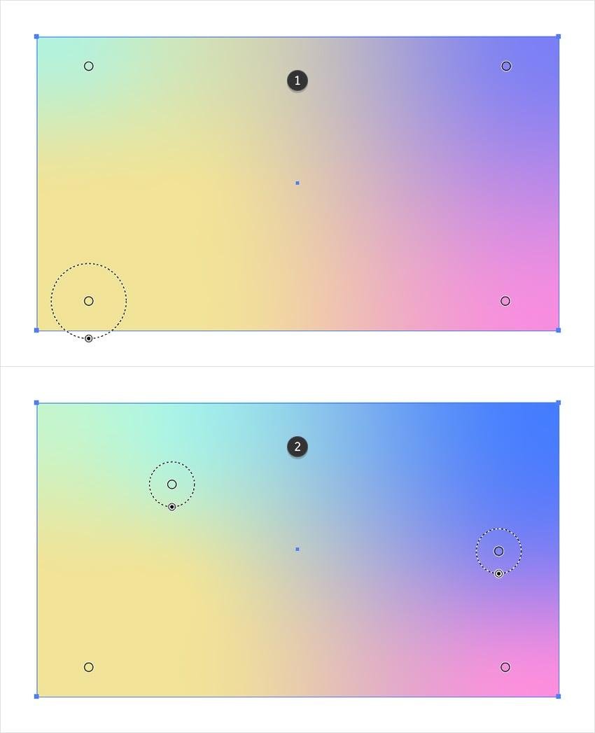 freeform gradient color stop