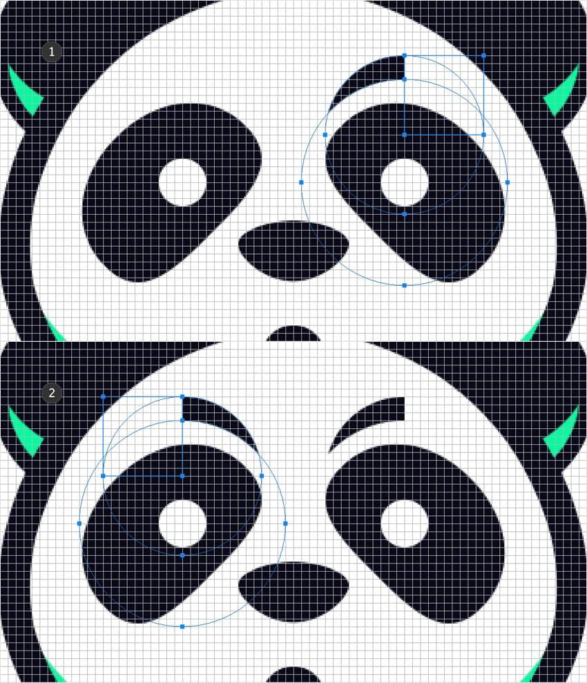 emblem design mascot eyebrow