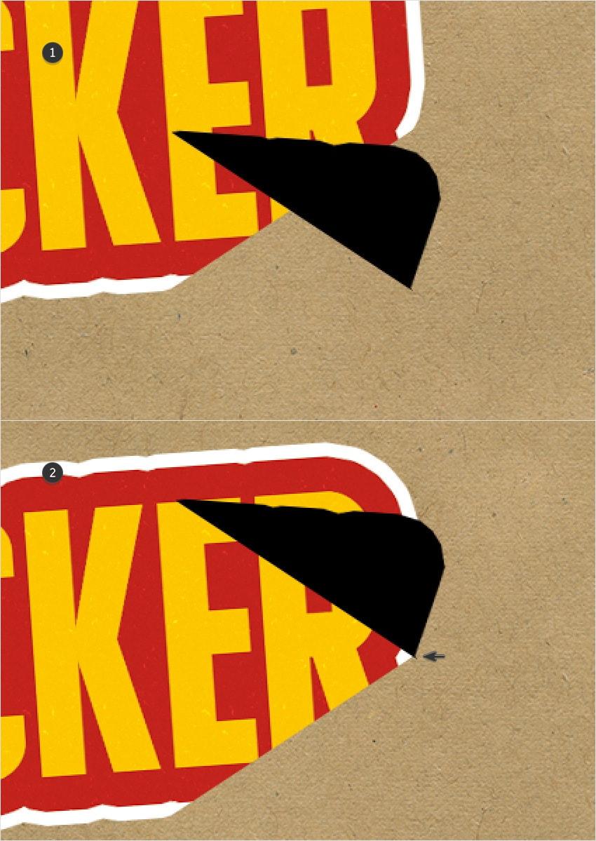 peeeling sticker flip
