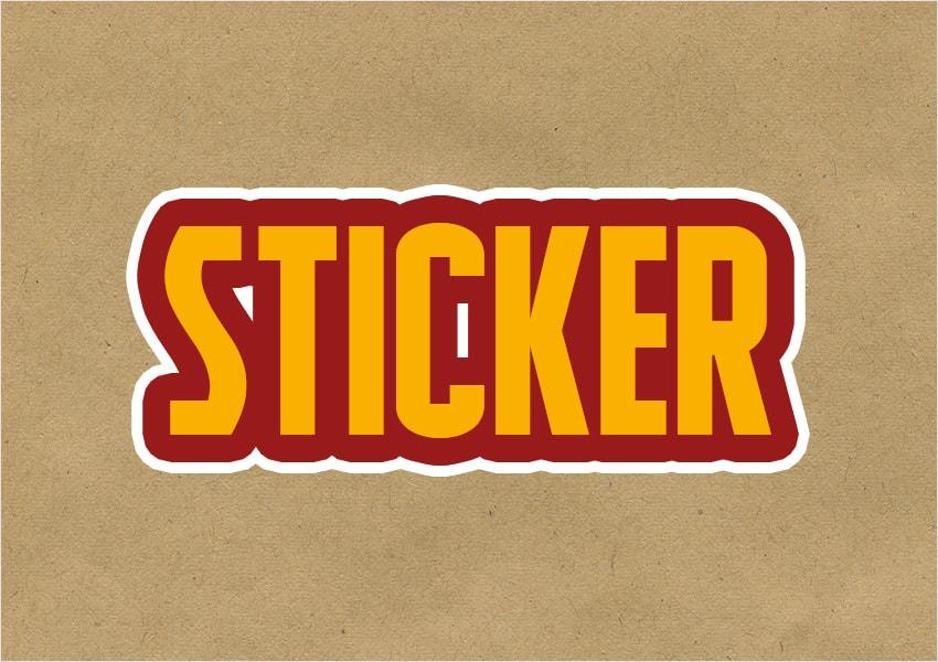 sticker text stroke