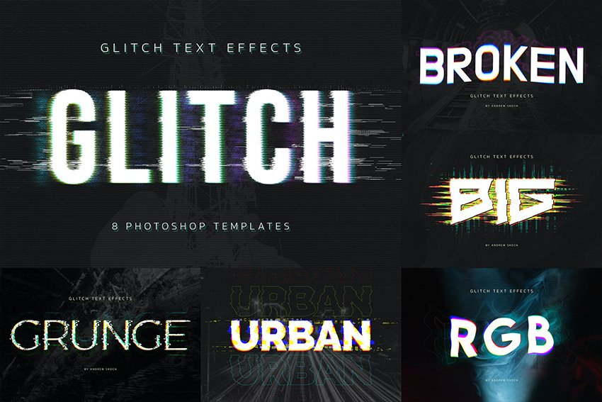glitch photoshop