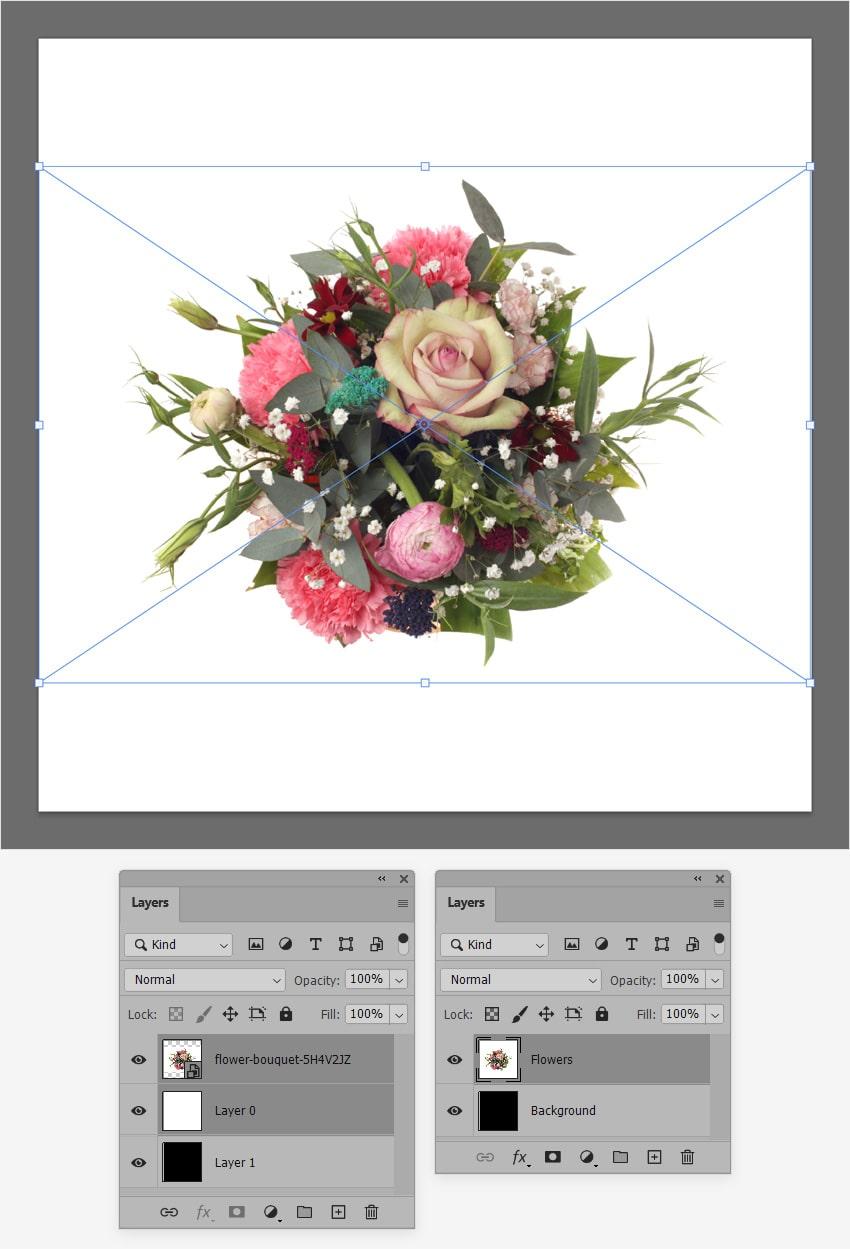 add flower photo