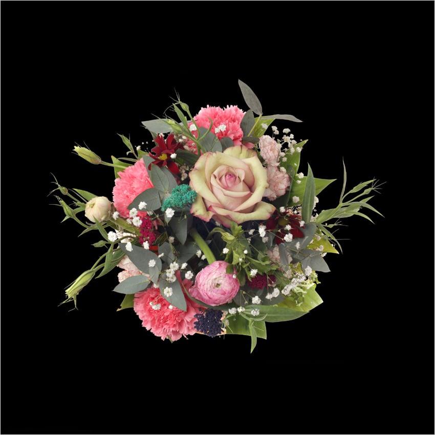 masked flower layer