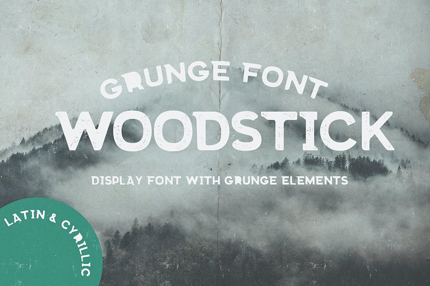 Woodstick Cyrillic font