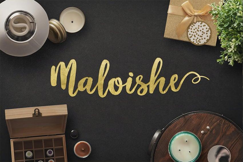 Maloishe Cyrillic font