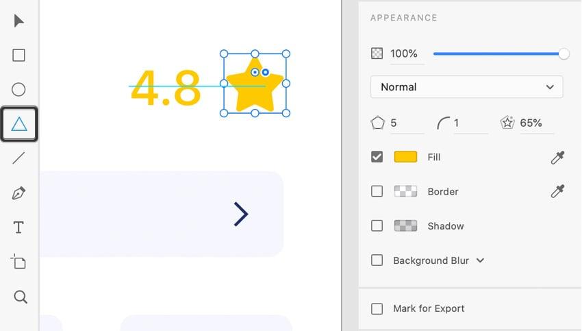 AdobeXD polygon