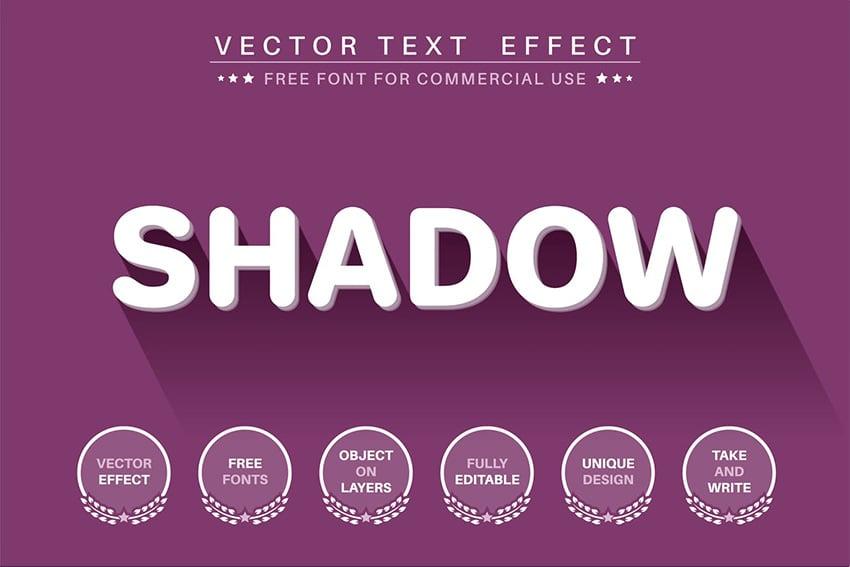 long shadow effect