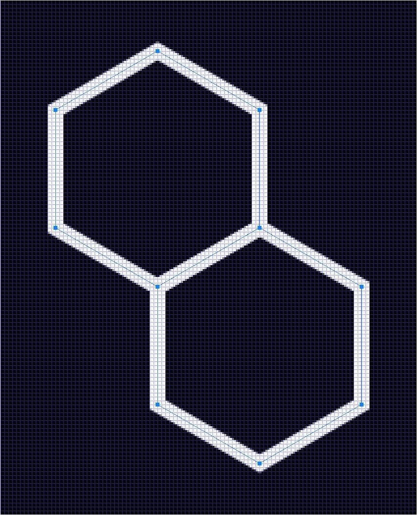 duplicate hexagon