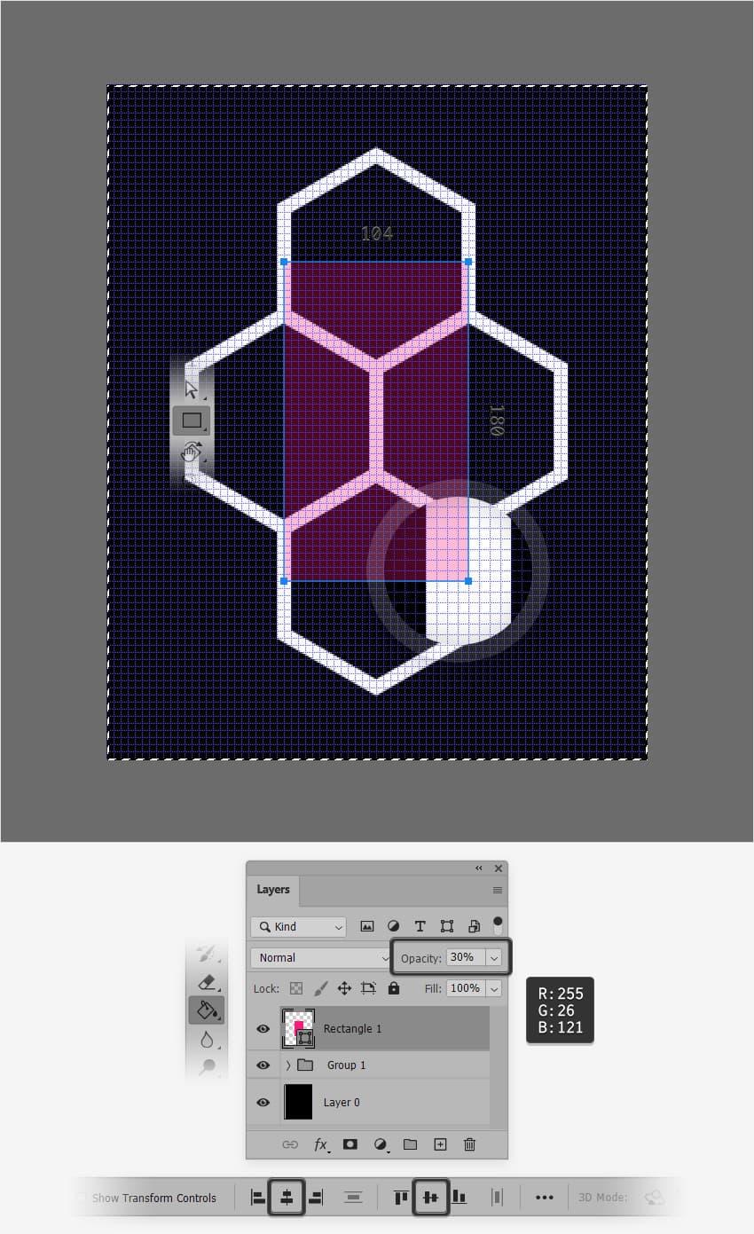 center rectangle