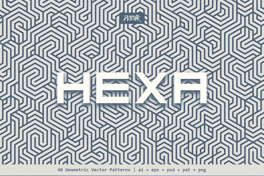 geometric hexagon pattern