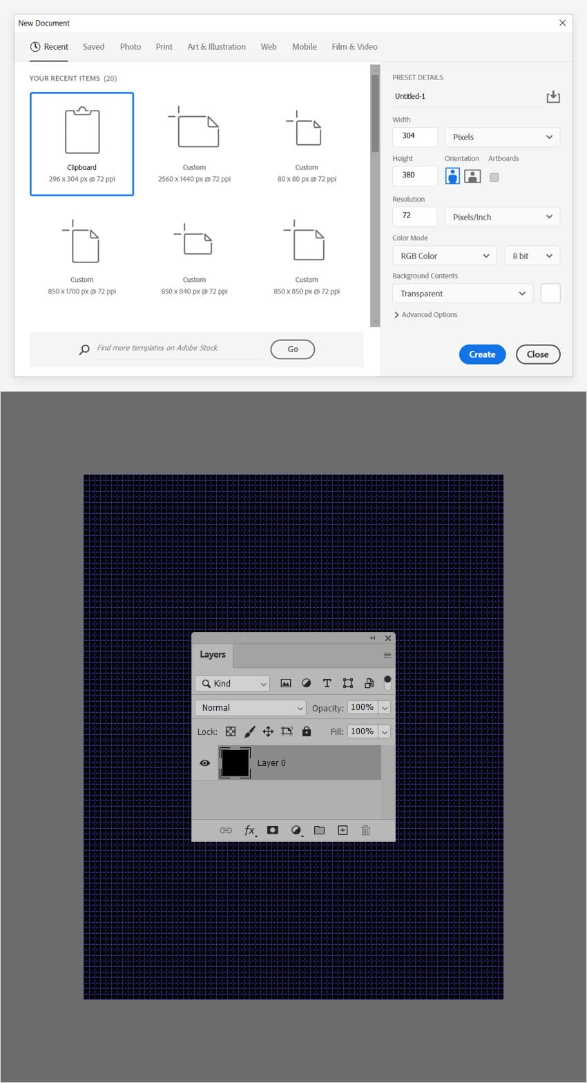 grid texture photoshop