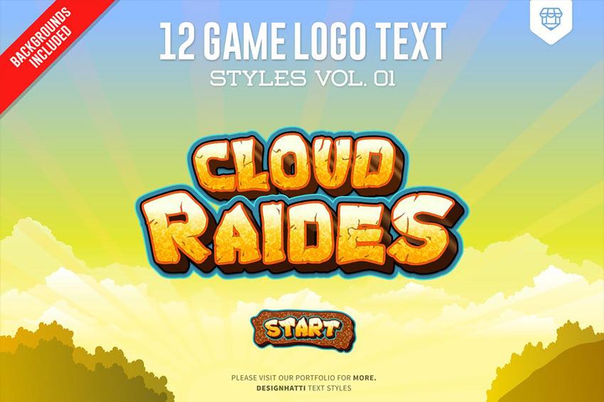 3d logo text effect