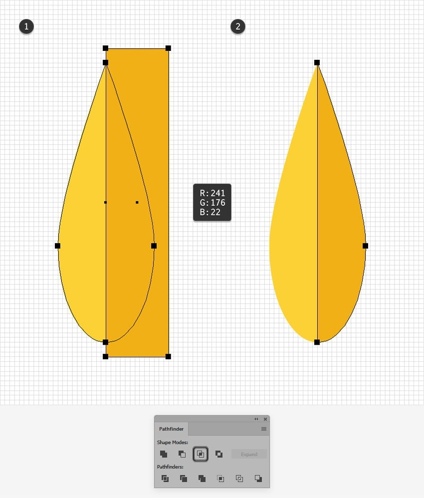 yellow leaf design half