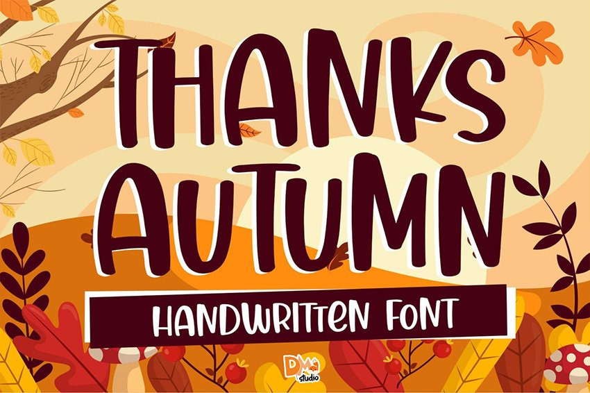 fall calligraphy font