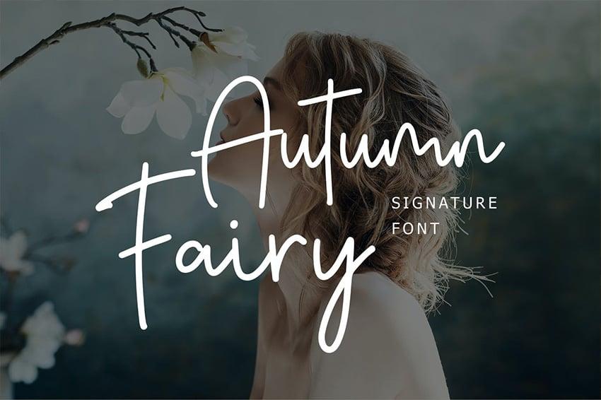 cursive fall font