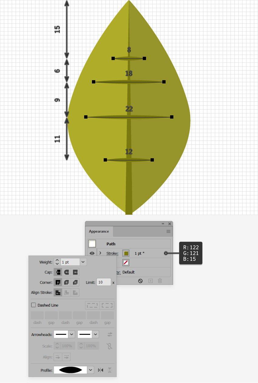leaf design horizontal path