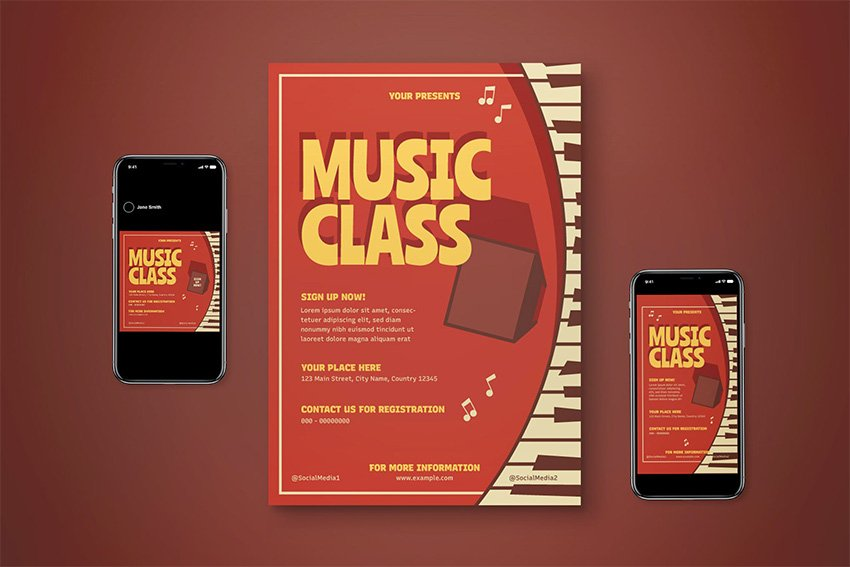 music lessons flyer