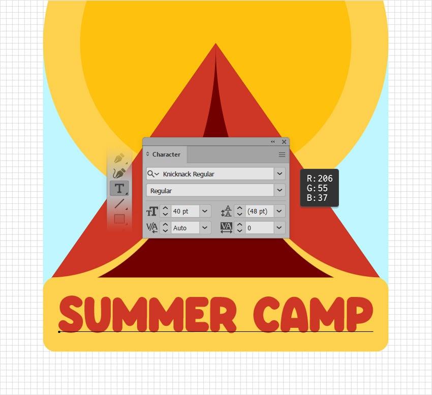 summer camp logo text