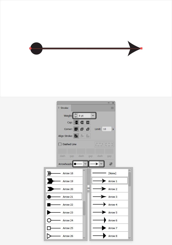 illustrator arrow head