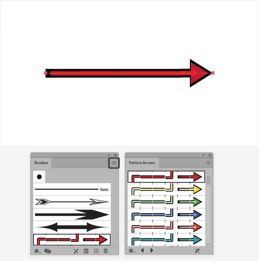illustrator arrow pattern brush