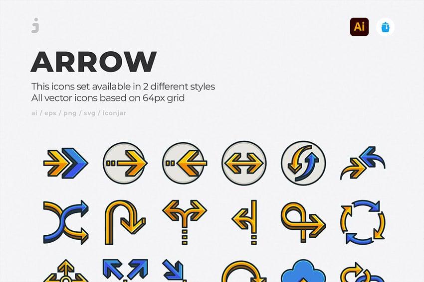 illustrator arrow icon