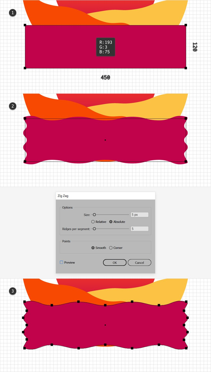 rectangle dark pink