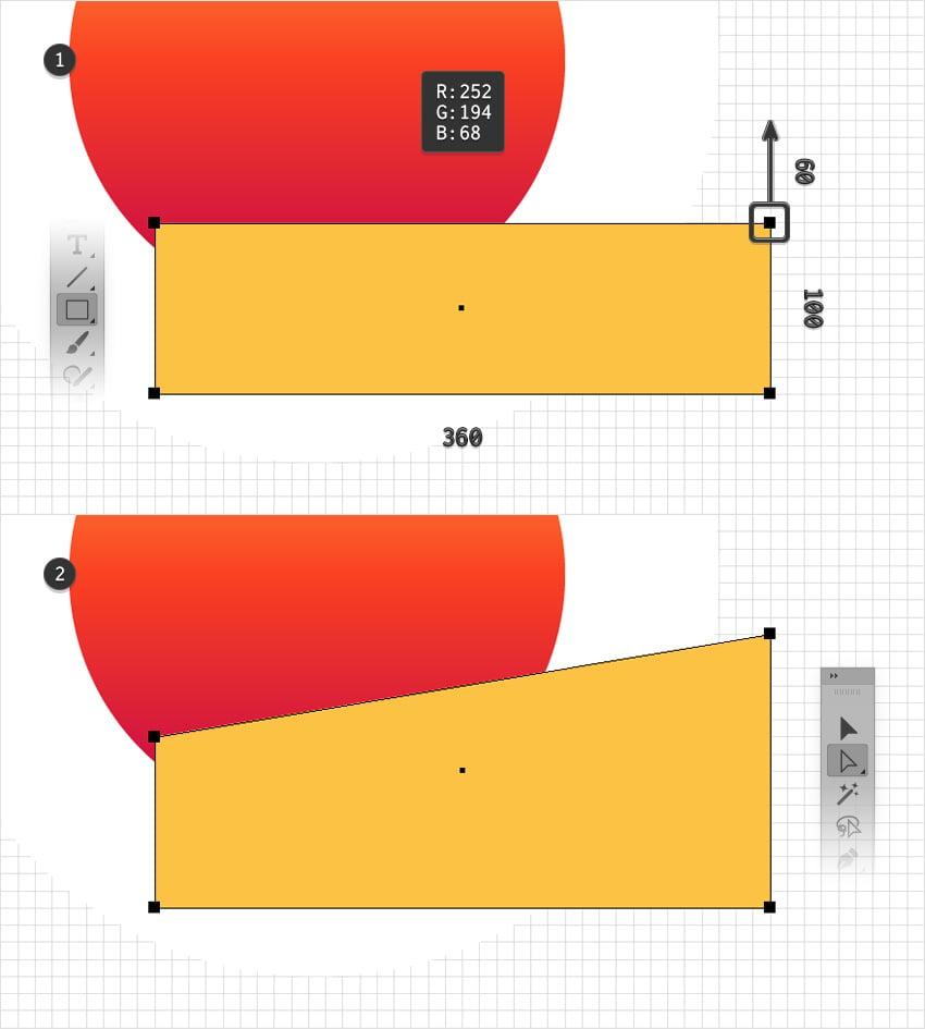 rectangle yellow