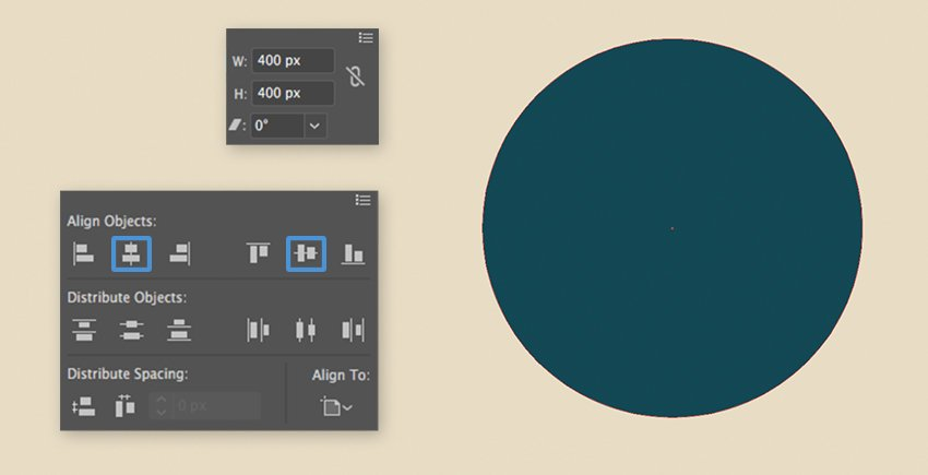 Creating and aligning of a circle shape