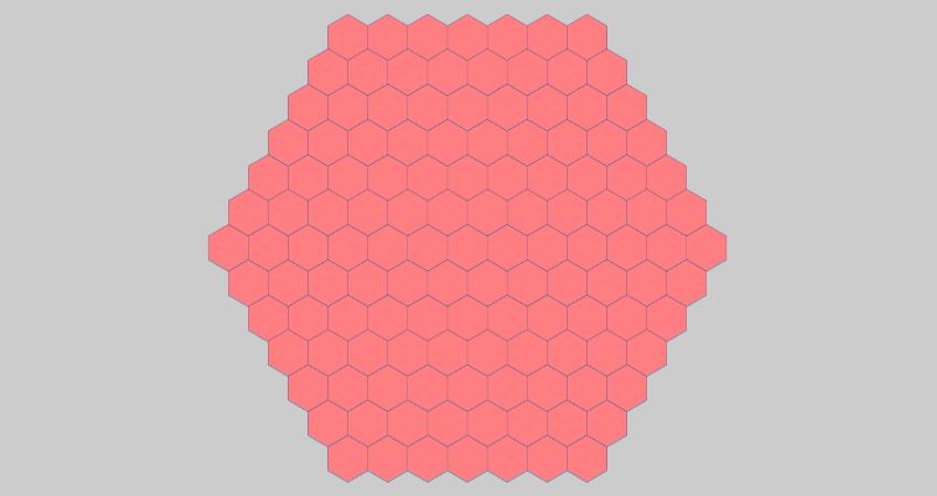 horizontal hexagonal minesweeper grid
