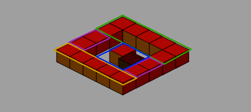 level divided into blocks of which one is the problem block