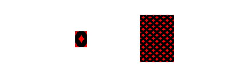 tiling design and tiled back side of the card