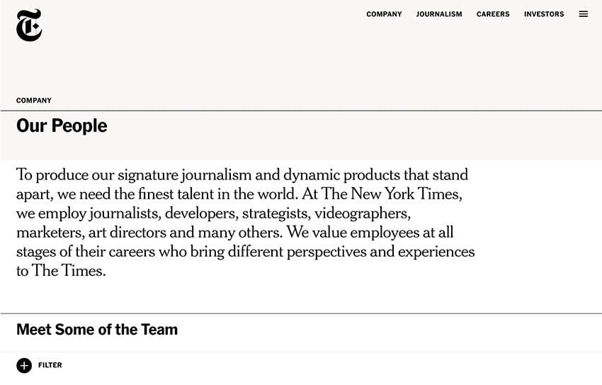 New York Times website