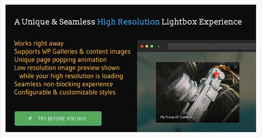 Torchbox Image Lightbox for WordPress