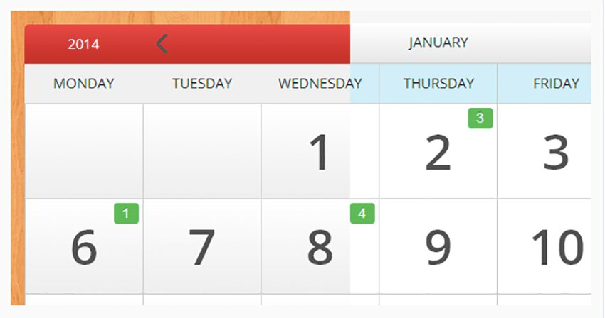 eCalendar - Responsive Events Calendar