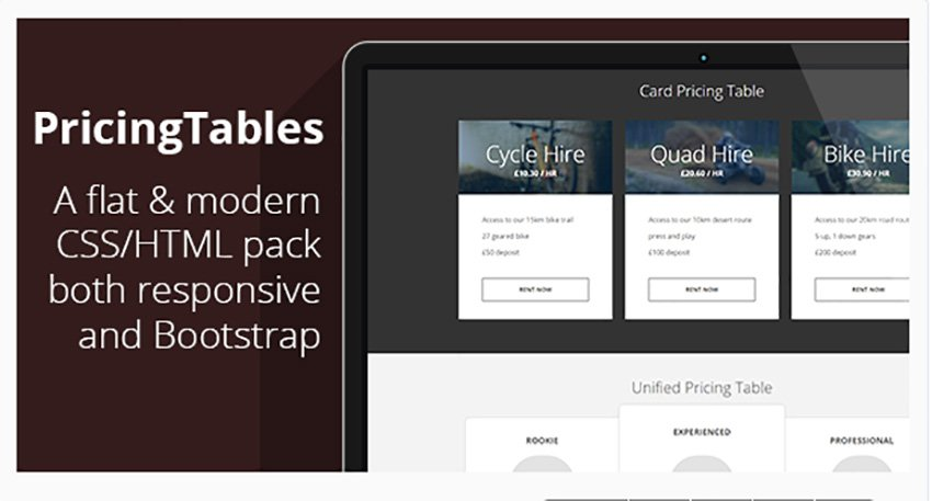 7 Responsive Flat Bootstrap Pricing Tables