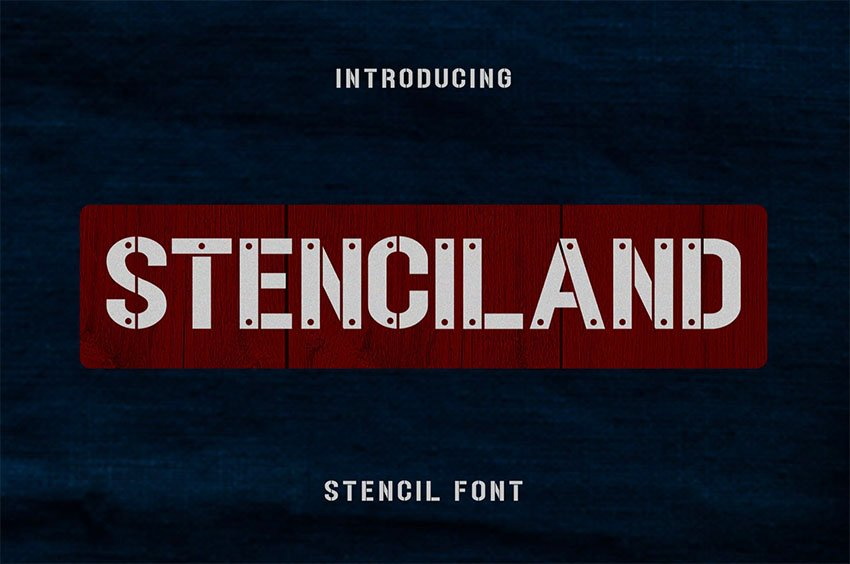 Stencil Alphabet Fonts