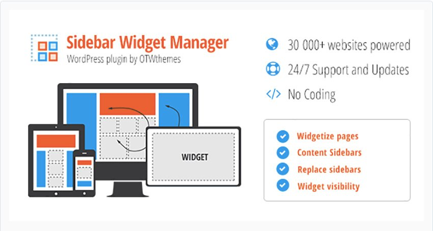 Sidebar and Widget Manager