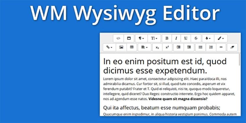 Bootstrap 4 WYSIWYG Editor
