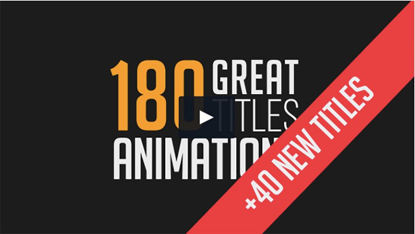 180 Great Title Animations