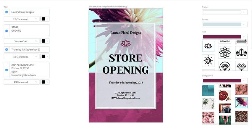 Store Opening Online Flyer Maker
