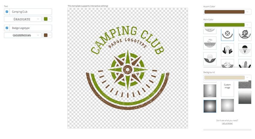 Camping Travel Agency Logo