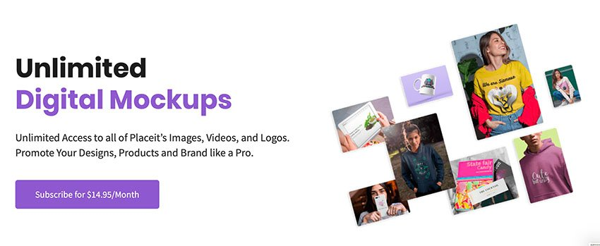 unlimited digital mockups at Placeit