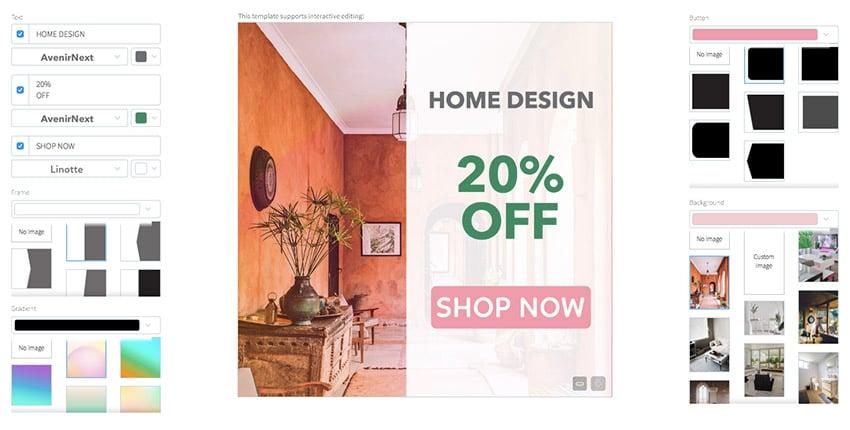 Home Design Store Banner Ad Maker