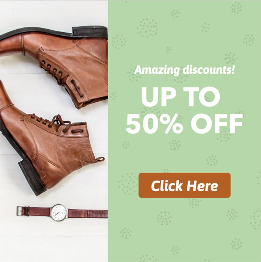 50 Off Shoes Ad Banner Template