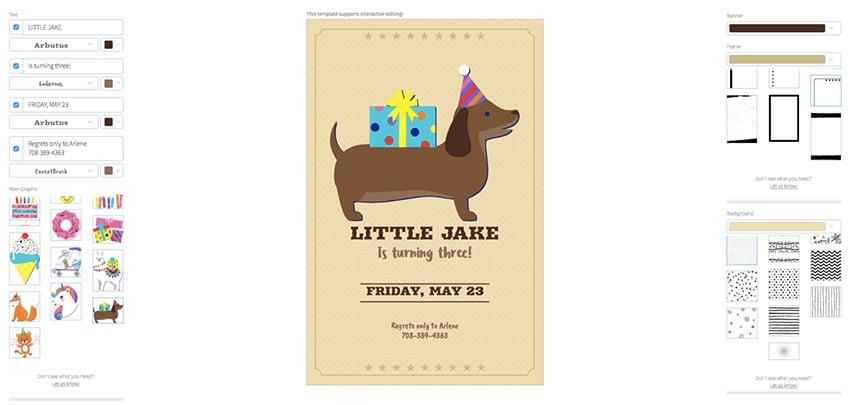 Online Flyer Maker for Kids Birthday