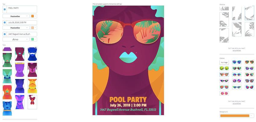 Pool Party Online Flyer Maker