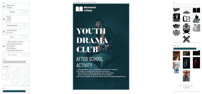 Youth Drama Club Flyer Maker