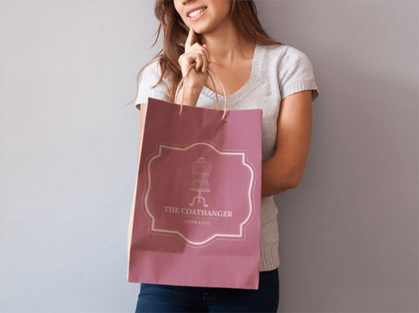 logo design visualisation bag